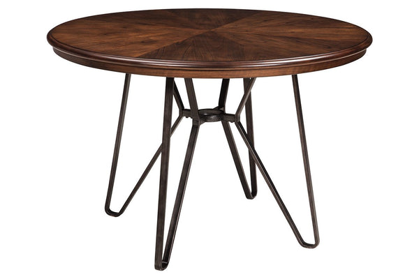 Simple round dining table