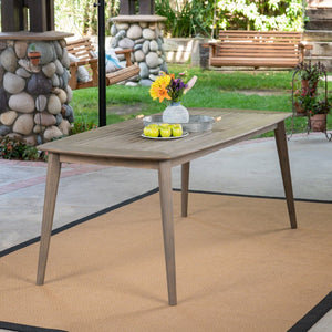 Acacia Wood Rectangular Dining Table
