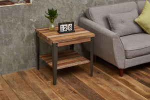 Rustic Vintage Industrial Coffee Side Table