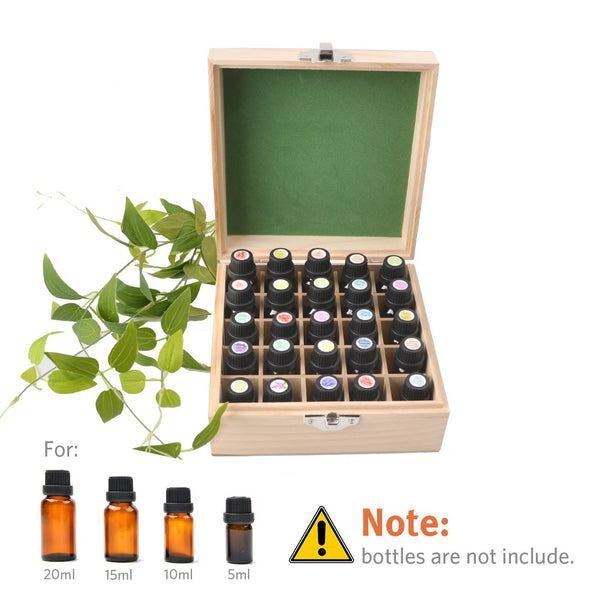 Beschan Wooden Essential Oil Box Carrying Case