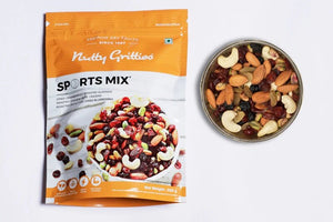Nutty Gritties Nuts, Dates, Berries Combo - Sports Mix 350g, Kalmi Dates 350g, Super Seeds Mix 200g, Mix Berries 200g (1.1kg)