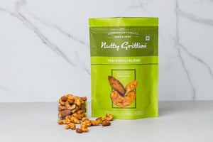 Thai Chilli Blend Trail Mix - Almonds, Cashews and Peanuts - Pack of 5 - 200g Each - 1Kg