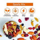 Nutty Gritties Sports Mix - Roasted Almonds, Cashews, Pistachios, Dried Blueberries, Cranberries and Raisins - (Pack of 7 x 54 GMS) - 378 GMS