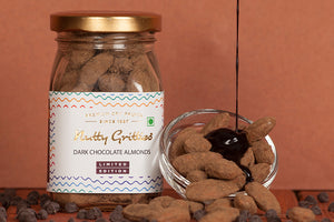 Valentine's Day Special Dark Chocolate  Almonds - 100 g