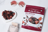 Nutty Gritties Mix Berries 200g + Mojo Bars Thins Dark Chocolate with Hazelnut 100g + Diwali Greeting Card
