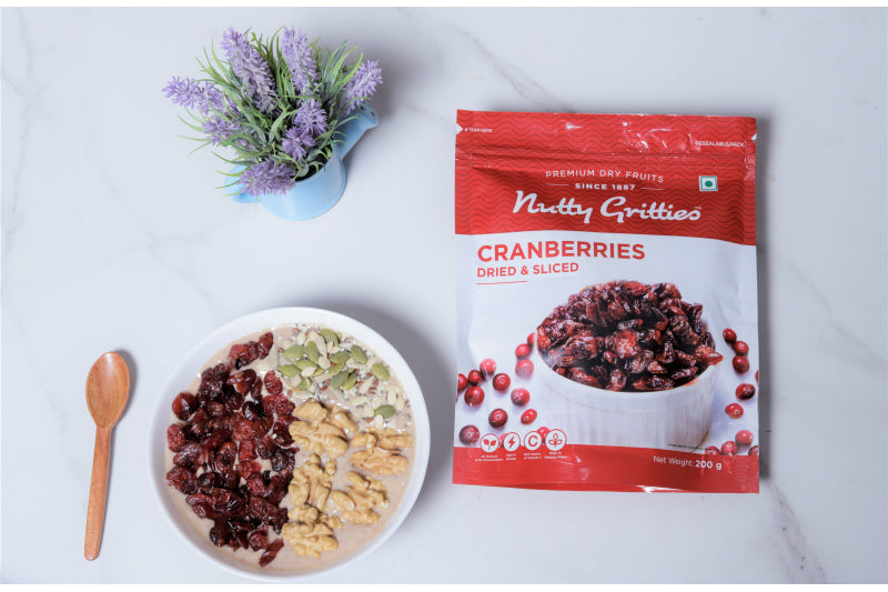 Nutty Gritties US Cranberries Cranberry Dried Sliced - 200GMS