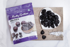 Nutty Gritties California Pitted Prunes - Dried Fruit Plums (Pack of 2 - 200GMS Each) - 400GMS