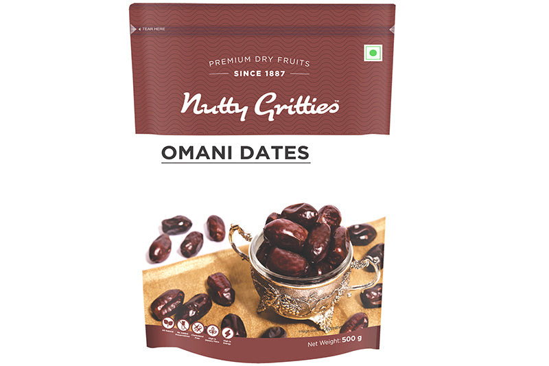 Omani dates - 1 kg ( Pack of 2, 500 g Each )