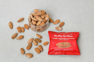 Nutty Gritties California Roasted Almonds, Lightly Salted - 288gms (Pack of 6 - Each 48g )