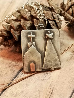 Christmas Church Necklace