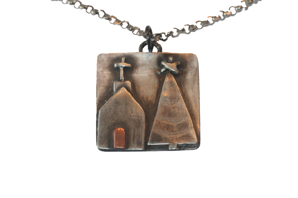 Christmas Church Pendant