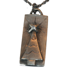 Sterling Silver Christmas Tree Pendant Necklace, Repurposed Artisan Necklace