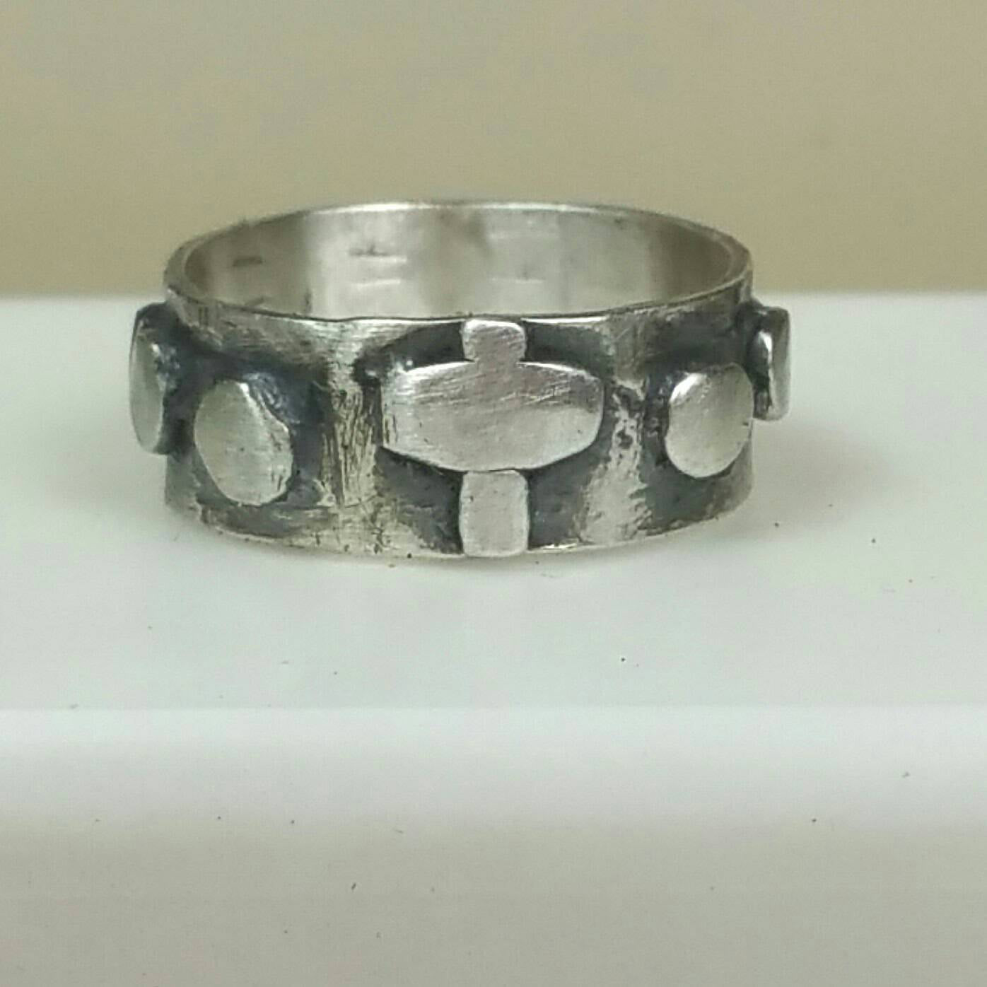 Women's Rosary Ring, Size 5 in Sterling Silver