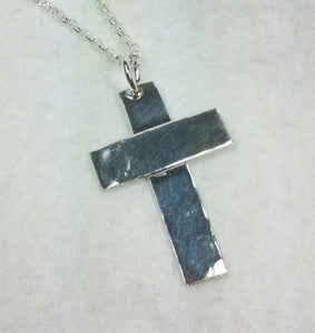 Large Sterling Silver Cross Pendant for Men or Women