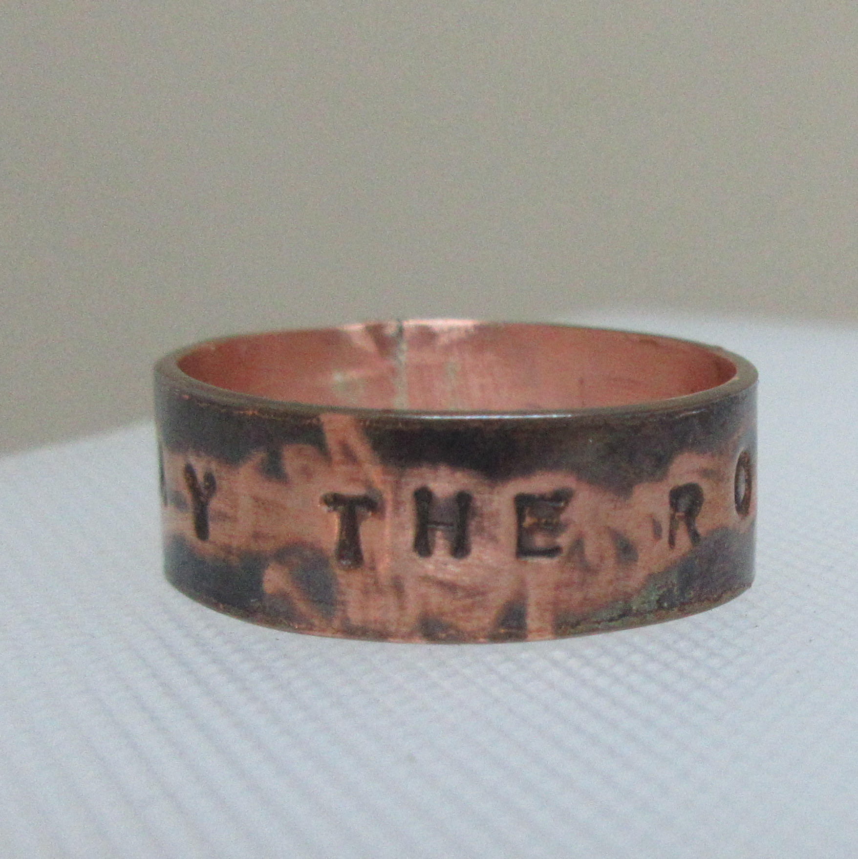 Pray The Rosary Ring Mixed Metal Catholic Ring in Size 7.5