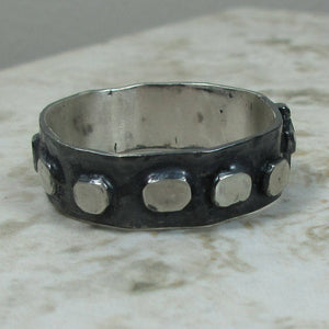 Handmade Sterling Silver Rosary Ring in Size 10.25
