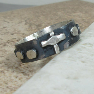 mens rosary ring