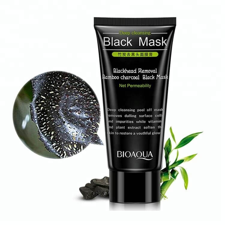 Activated Blackhead On Nose Removal Bamboo Charcoal Black Face Mask - Deep Cleansing & Blackhead Removal - BIOAQUA® OFFICIAL STORE