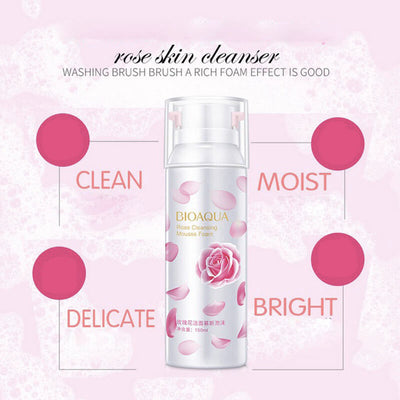 Rose Cleansing Mousse Foam for Skin Deep Cleansing - BIOAQUA® OFFICIAL STORE