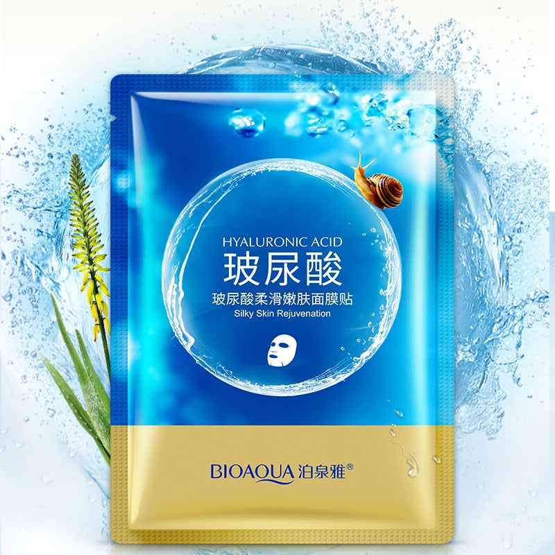 Hyaluronic Acid Snail Deep Hydra Moisturizing Face Mask - Anti Aging & Whitening & Moisturizing - BIOAQUA® OFFICIAL STORE