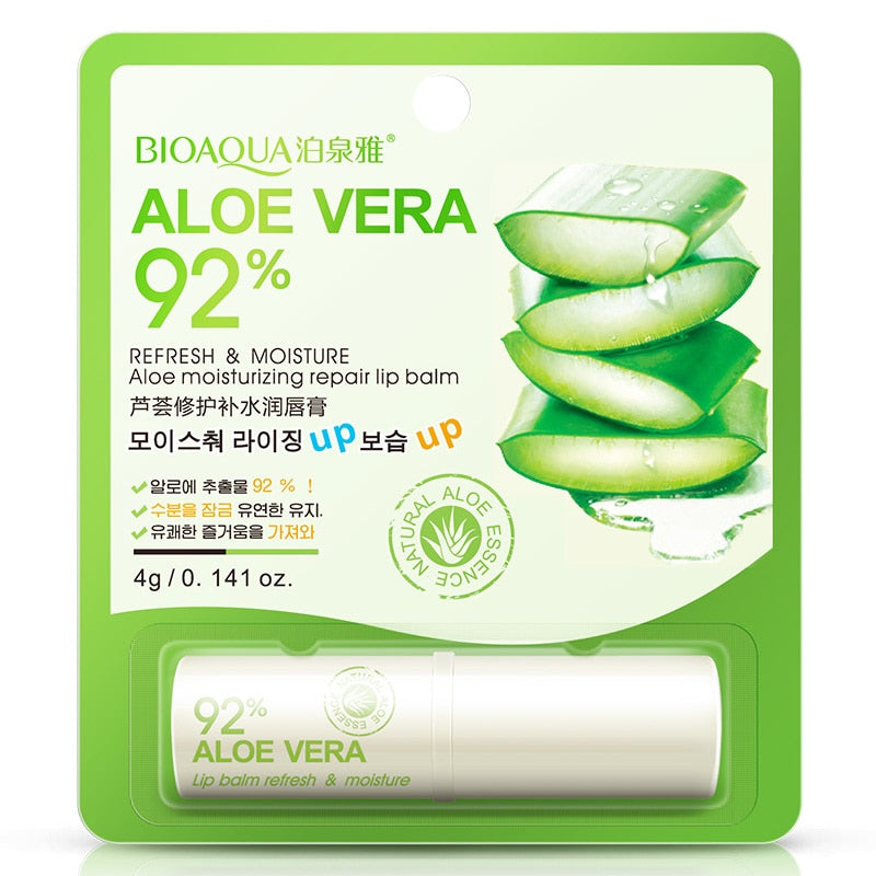 92% Natural Aloe Vera Gel Lip Balm - Moisturizing & Repair Lip Wrinkles Lipsticks - BIOAQUA® OFFICIAL STORE
