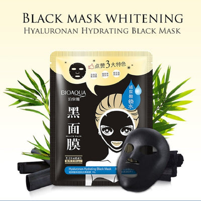 Hyaluronic Hydrating Black Facial Mask
