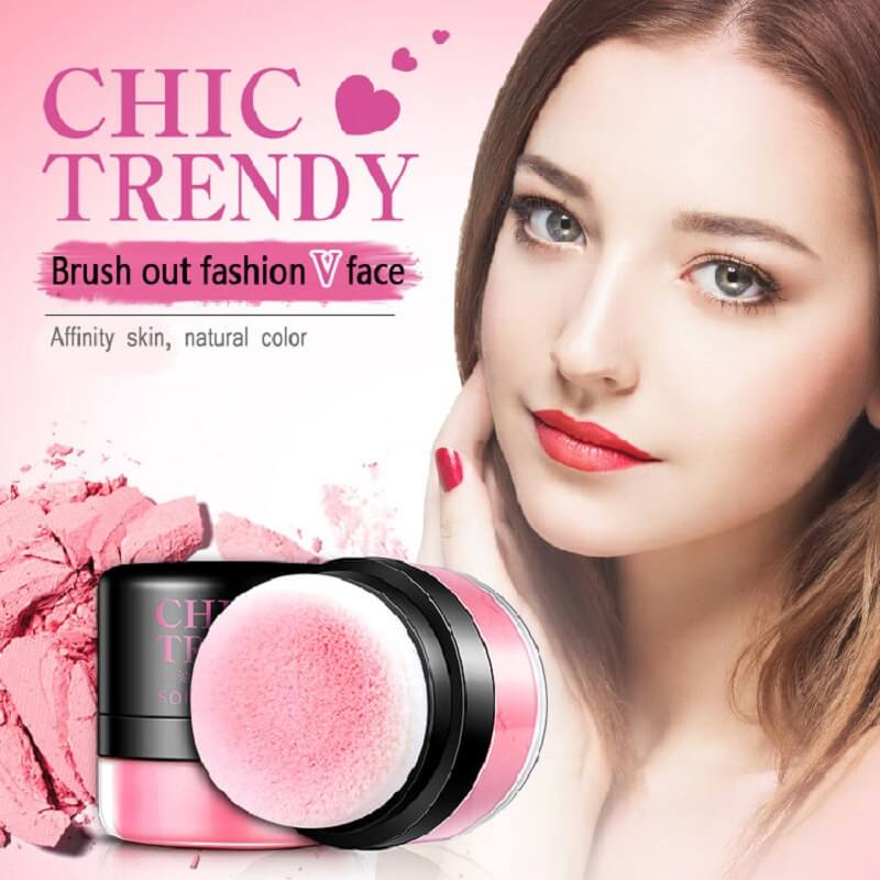 Chic Trendy Soft Rose Blush Powder