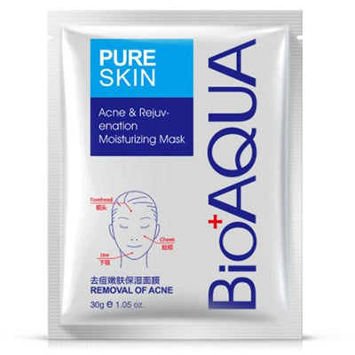 PURE SKIN Acne Scar Removal Rejuvenation Cream + Moisturizing Mask - BIOAQUA® OFFICIAL STORE