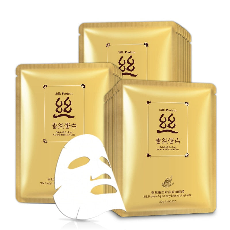 Silk Protein - Original Ecology Natural Silk Aqua Shiny Moisturizing Mask - BIOAQUA® OFFICIAL STORE