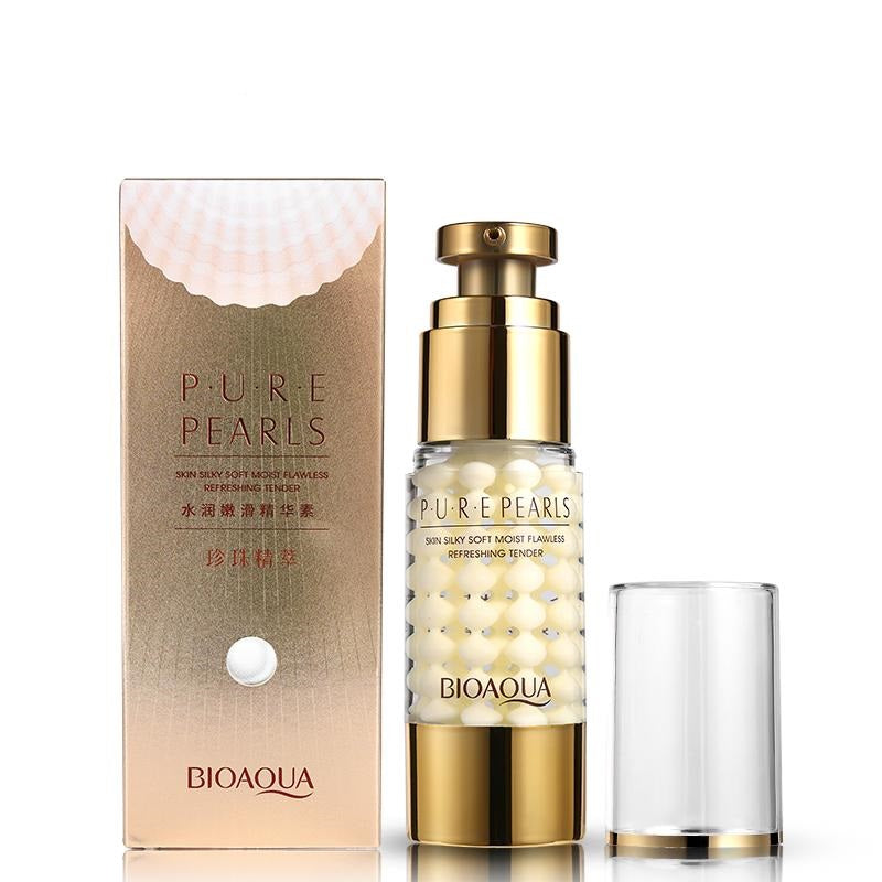 PURE PEARLS - Skin Silky Soft Hydra Moist Flawless Refreshing Tender Collagen Hyaluronic Acid Serum - BIOAQUA® OFFICIAL STORE