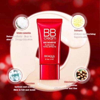 Red Plain Face BB Cream Base Makeup