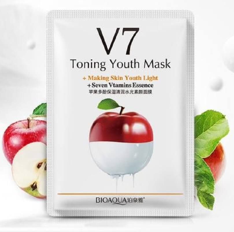 V7 Toning Youth Seven Vitamins Essence Facical Mask - Orange/ Apple/ Kiwi/ Strawberry - BIOAQUA® OFFICIAL STORE