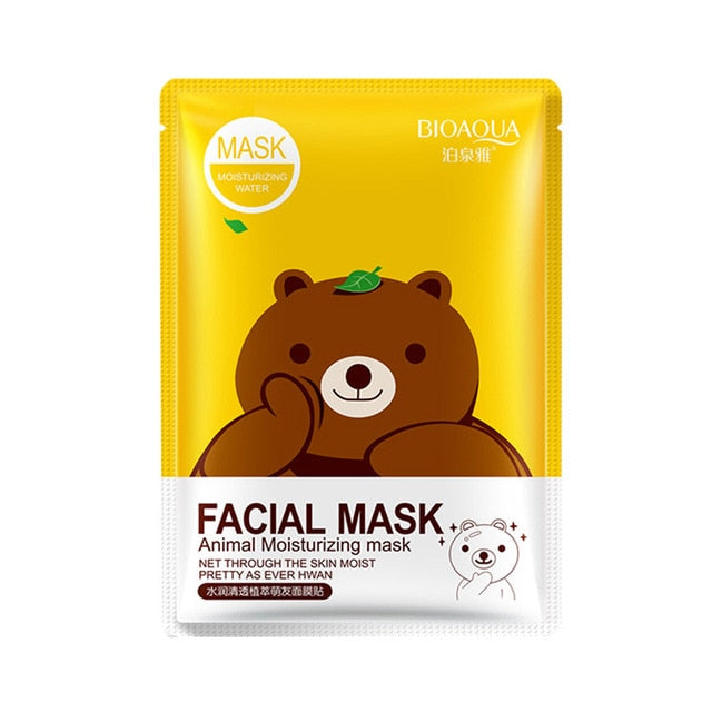 Facial Mask Animal Deep Moisturizing Sheet Mask