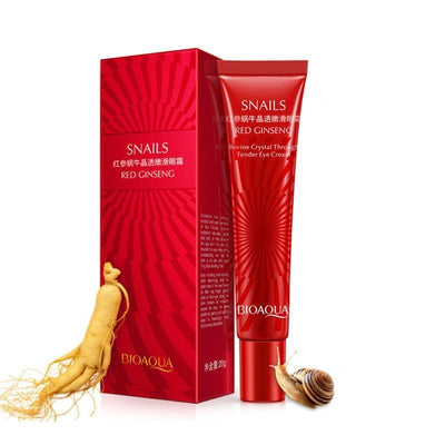 Natural Red Ginseng Snail Essence Eye Cream - BIOAQUA® OFFICIAL STORE