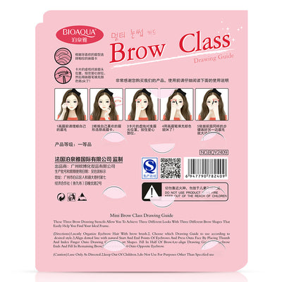 Fashion Eyebrow Makeup Thrush Auxiliary Tool Varied Of Eyebrow Shape Mould Eyebrow Tools Eyebrow Card Beauty Set