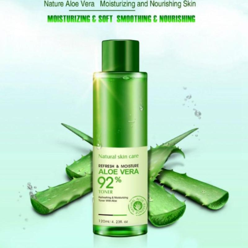 Natural Skin Care Liquid Aloe Vera 92% Toner