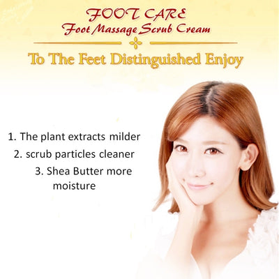 Shea Butter Foot Massage Exfoliating Cream
