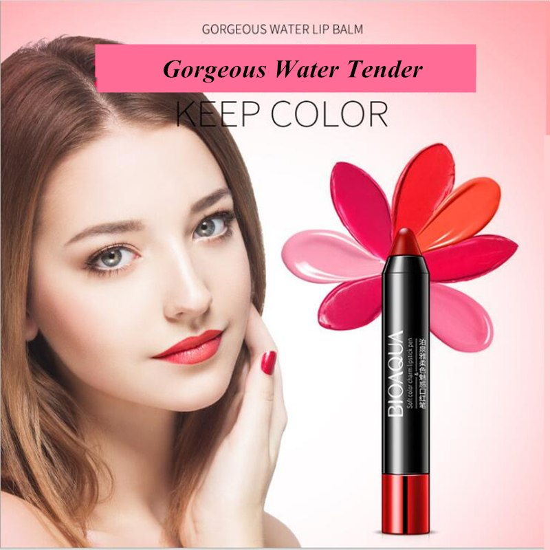 Moisturizer Makeup Lipstick Pencil Nude Waterproof Lipstick