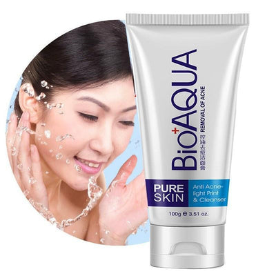 PURE SKIN Anti Acne Light Print Cleanser Removal Of Acne - BIOAQUA® OFFICIAL STORE