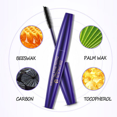 Waterproof Lashes Long Fiber Mascara - Lengthening Eyelashes & Dazzle Black Mascara - BIOAQUA® OFFICIAL STORE