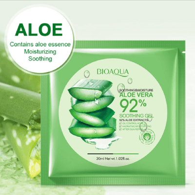 Aloe Vera Soothing Gel Face Mask - 92% Aloe Extracts - BIOAQUA® OFFICIAL STORE
