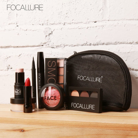 FOCALLURE 8Pcs Business & Casual Outing Makeup Set