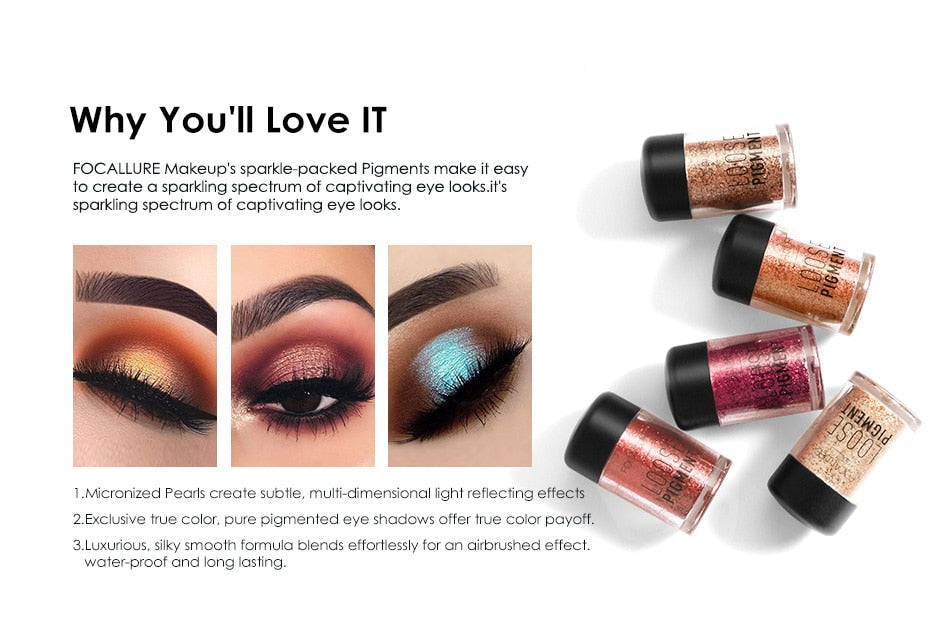 Focallure High Pigmented 18 Colors Loose Glitter Eye Makeup 2000