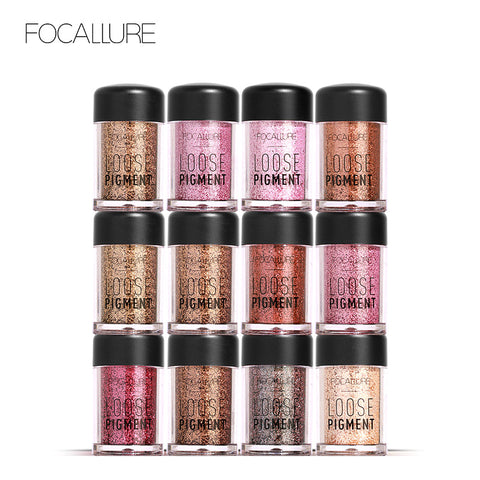 FOCALLURE High Pigmented 18 Colors Loose Glitter Eye Makeup - 2000 each