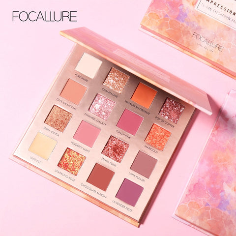 FOCALLURE Sunrise Eye Shadow Palette with Concealer