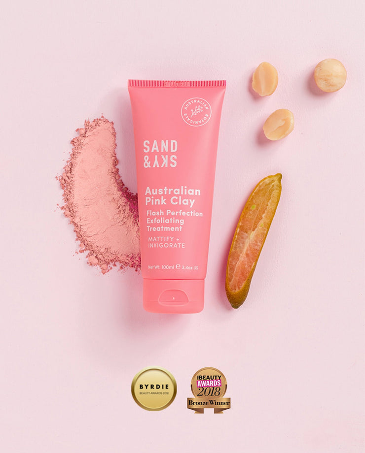 Free Australian Pink Clay Flash Perfection Exfoliator