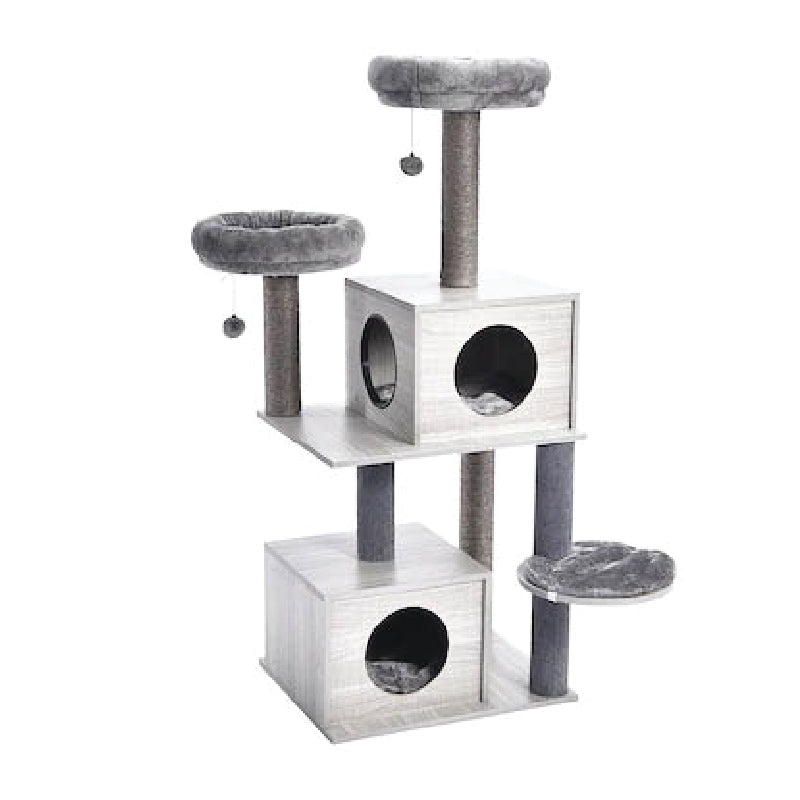 55-in Modern Cat Tree & Condo