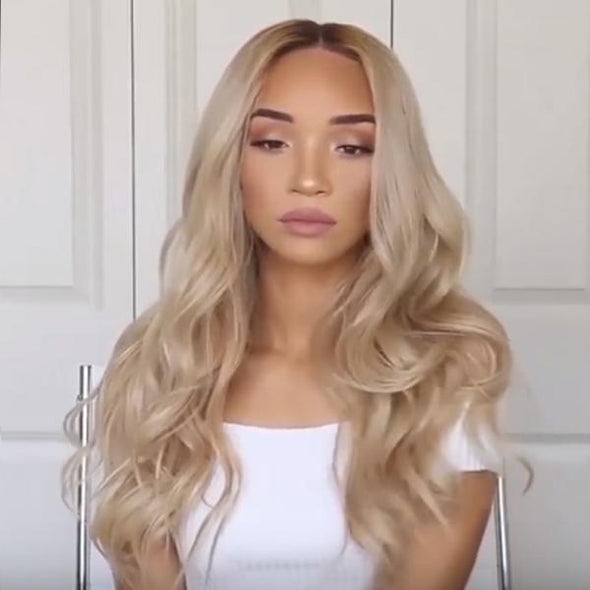 BLONDE WIG SLAY(Human Hair)--(140%)Thick As Picture