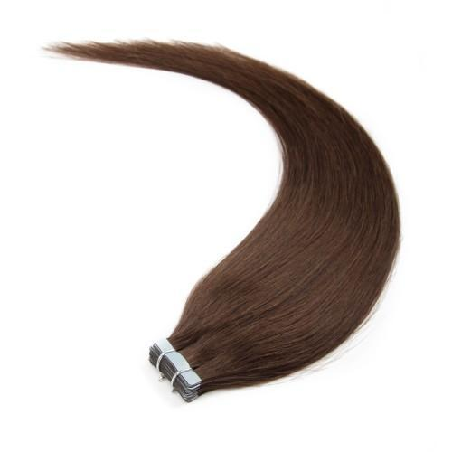 20pcs 50g Straight Tape In Hair Extensions #4 Chocolate Brown
