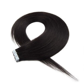 20pcs 50g Straight Tape In Hair Extensions #1B Natural Black